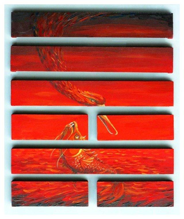 Hexagrama 06 Osvaldo Ferraro Los Artistas y el I Ching Laura Paradiso El Pozo de Agua