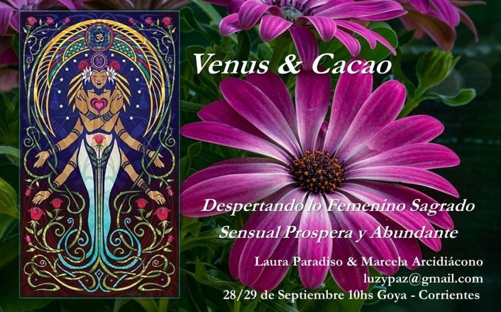 Venus y Cacao Taller Presencial Astrología en Goya Corrientes